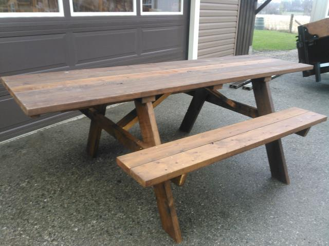 Wheelchair Accessible Picnic Table Pressure Treated Construction - Wheelchair picnic table