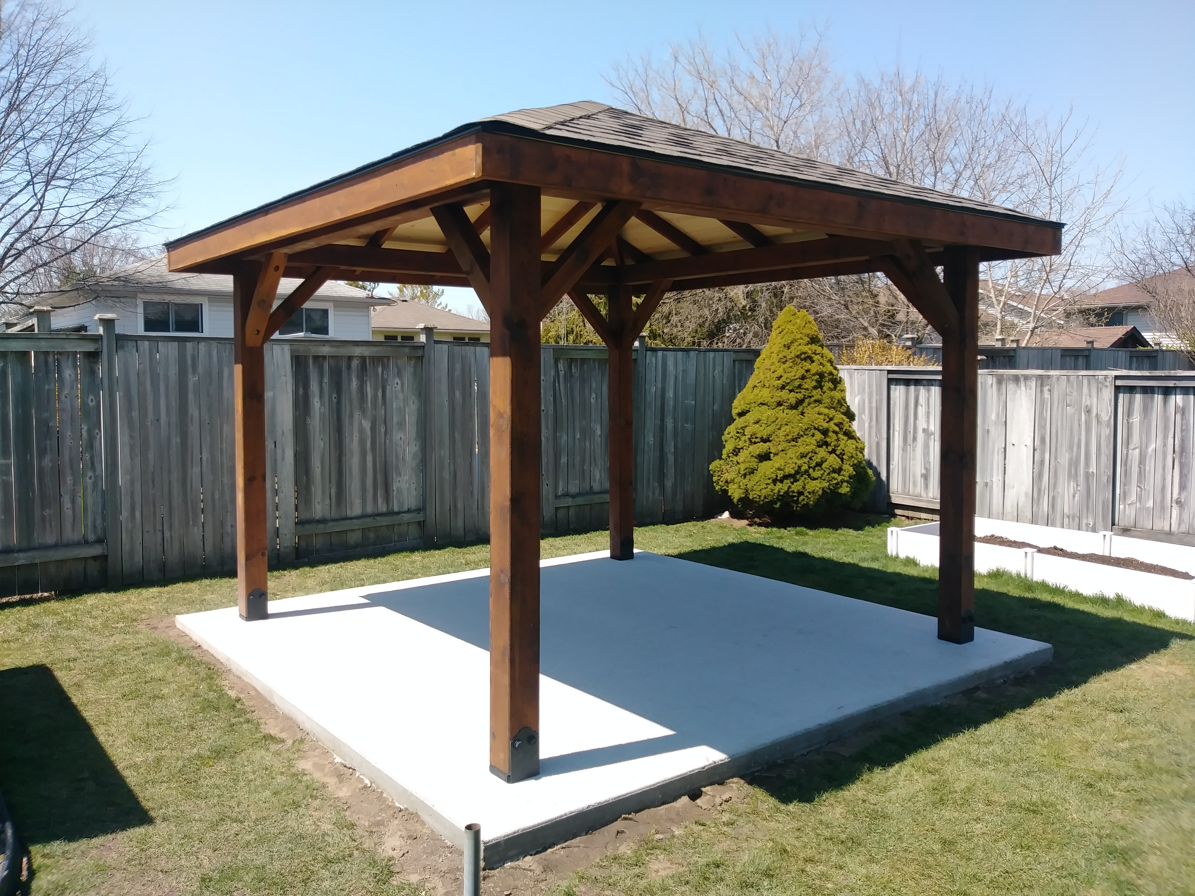 Pavilions With Hip Roofs Gazebos Hot Tub Enclosures