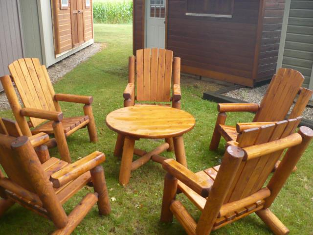 Log Chair Patio Set
