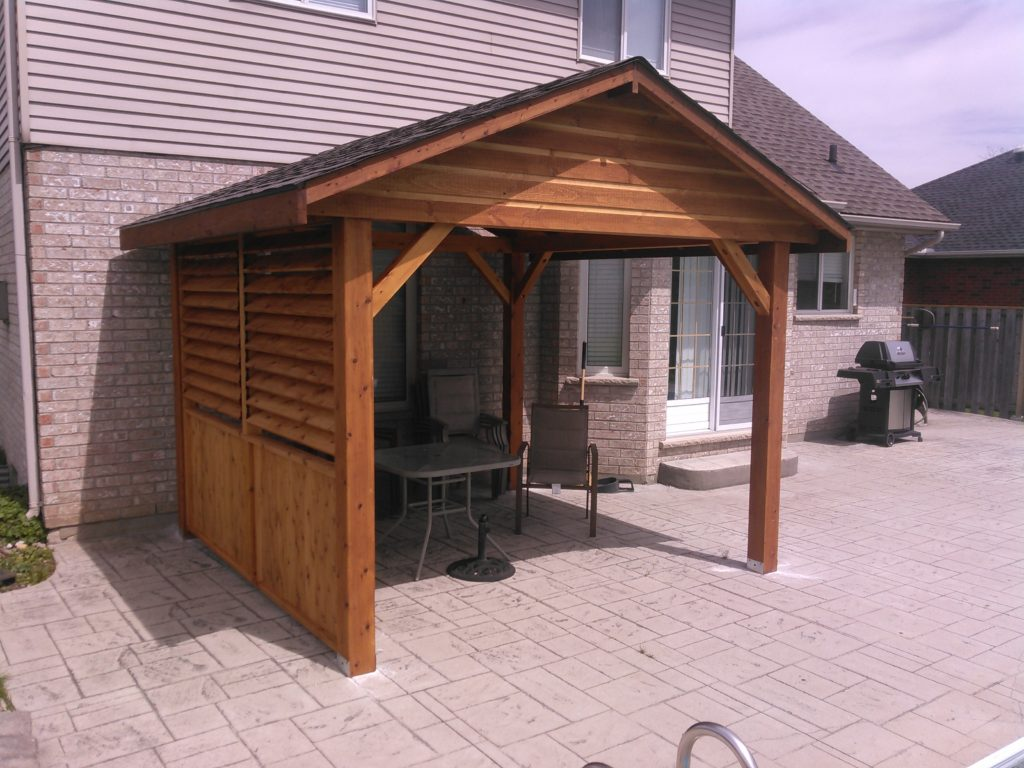 Pavilions Shade And Rain Protection On Any Existing Patio